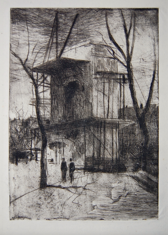 """Washington Arch No. 2"" by J. Alden Weir"