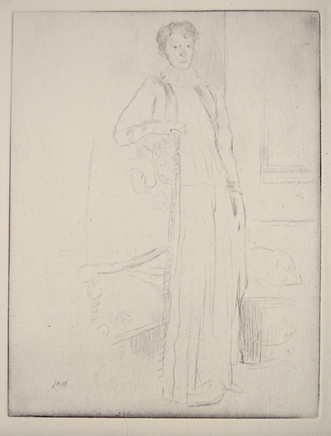 """Standing Figure No. 1"" by J. Alden Weir"