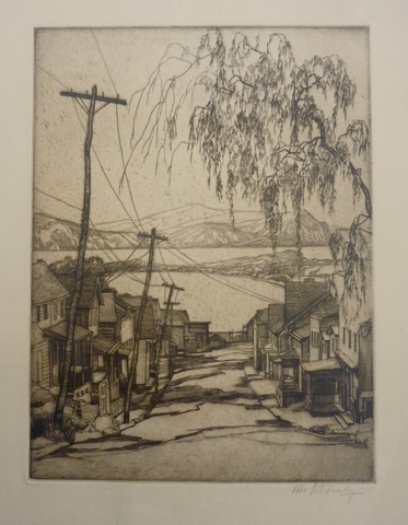 """Croton on Hudson"" by Abbo Ostrowsky, (Amer., 1889-1975)"