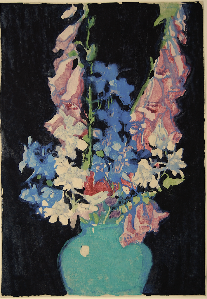 """Garden Flowers"" by Margaret J. Patterson, Amer., (1867-1950)"