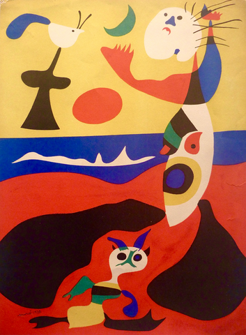 """L'Ete (Summer)"", by Joan Miro, (Spanish, 1893-1983)"