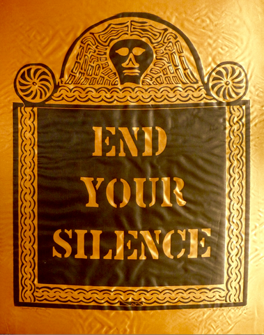 """END YOUR SILENCE"" by William Kent, (Amer., 1919-2012)"