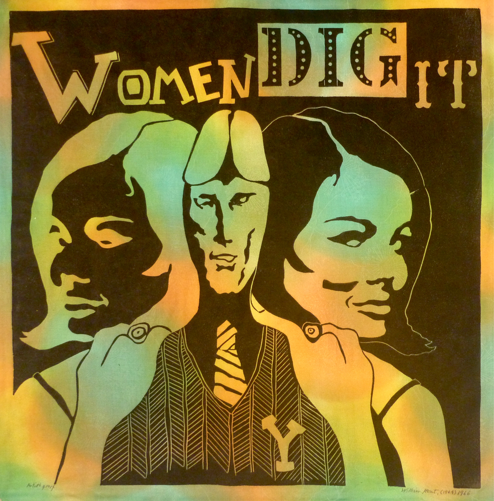"""Women Dig It"" by William Kent, (Amer., 1919-2012)"