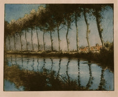 """Trees Along a Canal"" by William Sherwood"