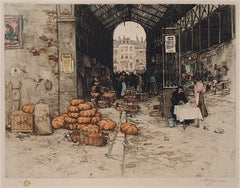 """Entrance to the Paris Market"" by T. Frantisek Simon"