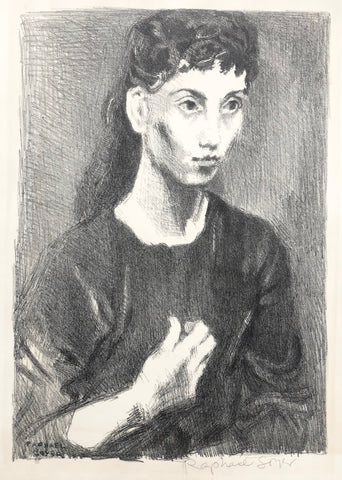 """Young Girl"" by Raphael Soyer, Amer., (1899-1987)"