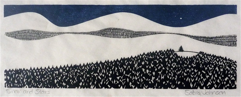 """Snow and Stars"" by Sabra Johnson Field, Amer., (B. 1935)"