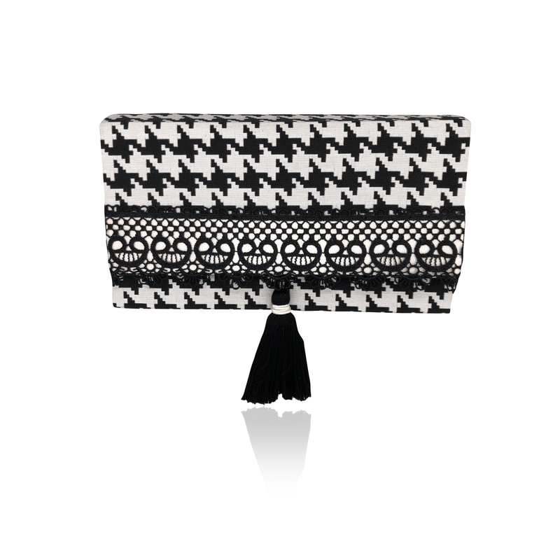 B&W Hand Made Clutch