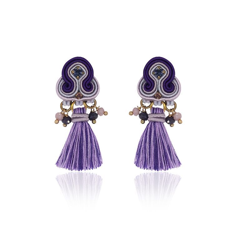Purple Mini Borla Earrings