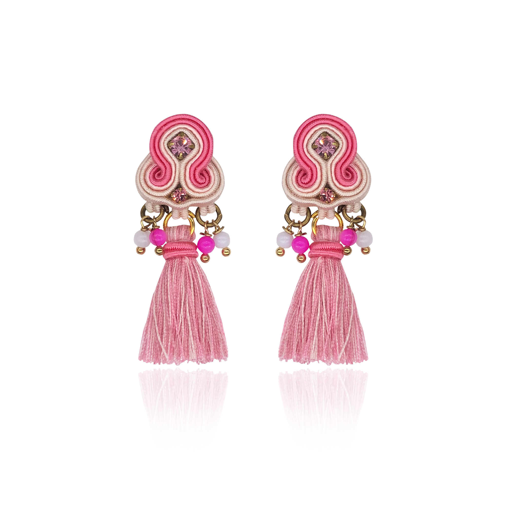 Super Pink Mini Borla Earrings