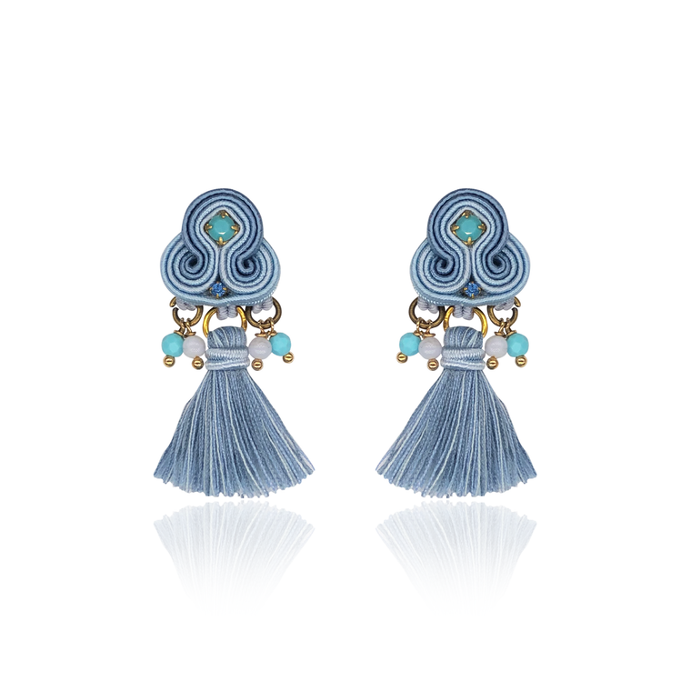 Baby Blue Mini Borla Earrings