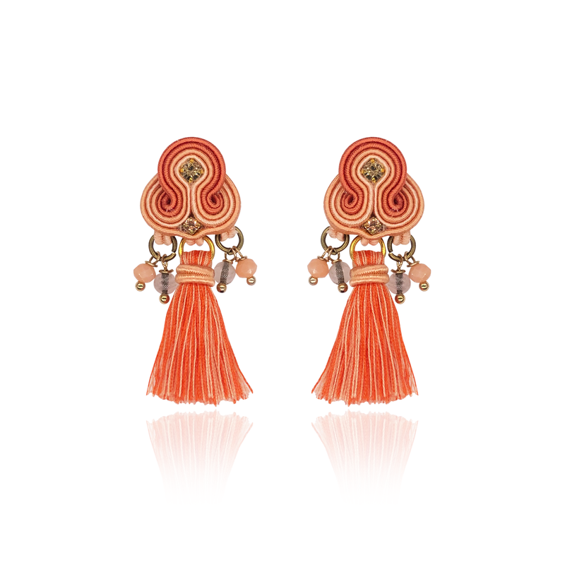 Light Orange MIni Borla Earrings