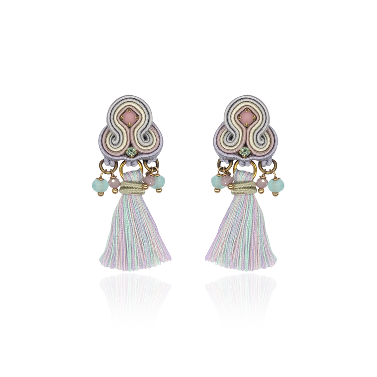 Light Mint & Lilac Mini Borla Earrings