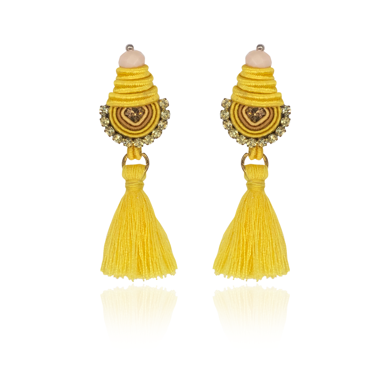 Yellow Mini Borla Earrings