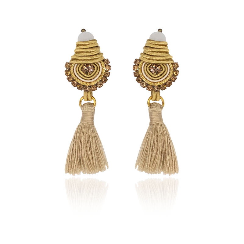 Gold Mini Borla Earrings