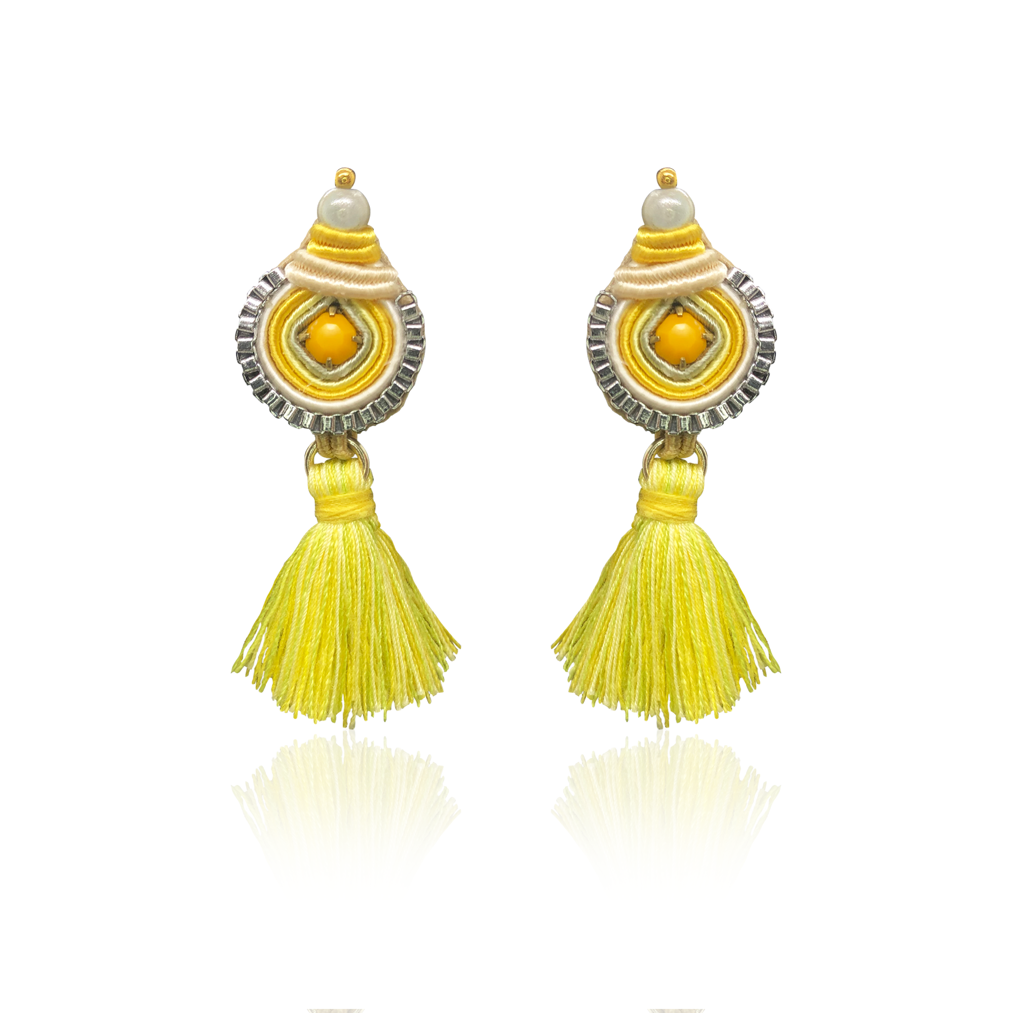 Yellow Yellow Mini Borla Earrings