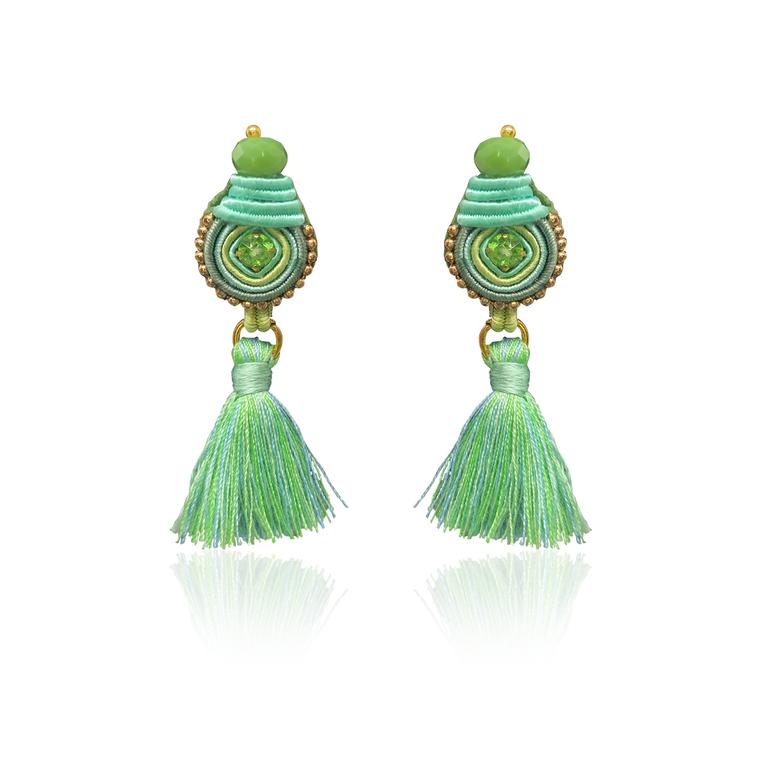 Minty Green Mini Borla Earrings