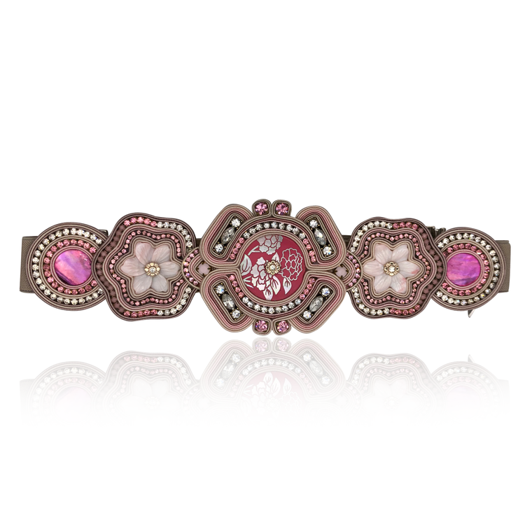 Rose Pink Mother of Pearl Large Belt
