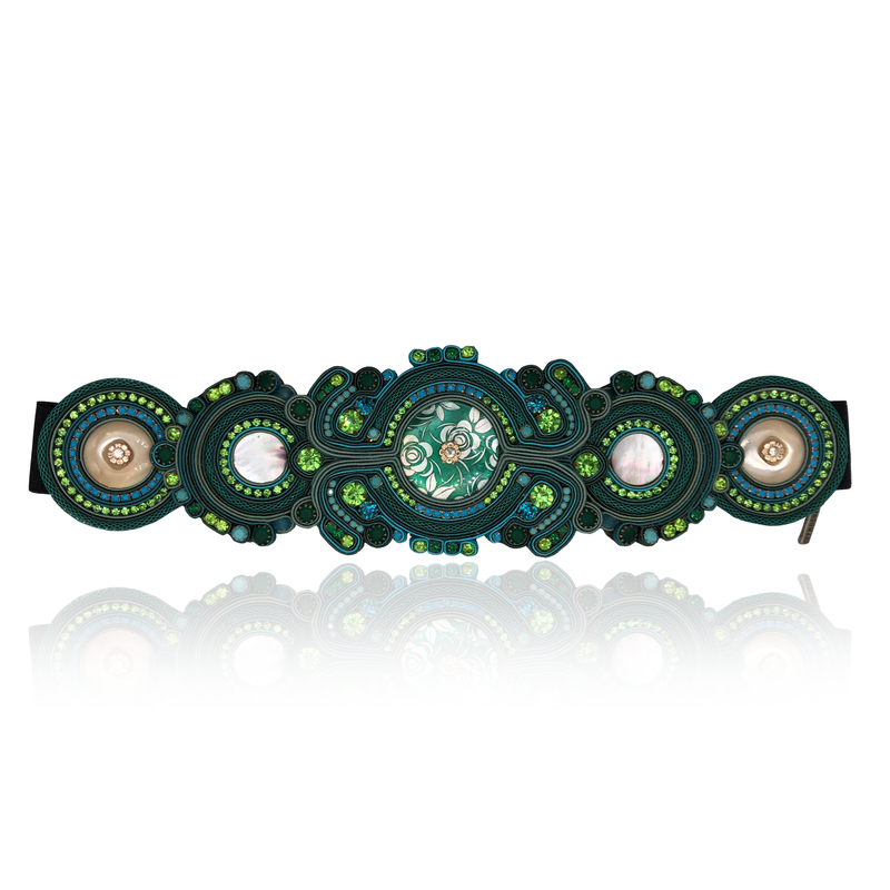 Green Mother of Pearl Belt