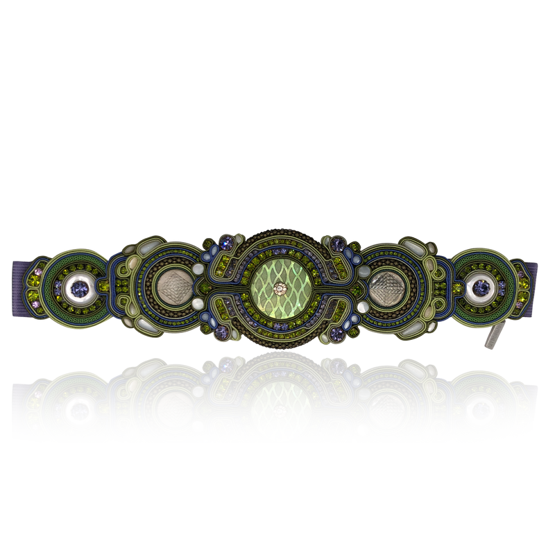 Apple Green Mother of Pearl Belt