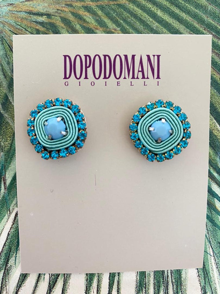 Aqua Basic Earrings