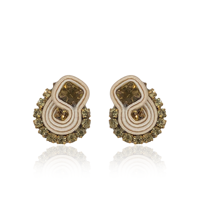 Beige Mini Mamma Earrings