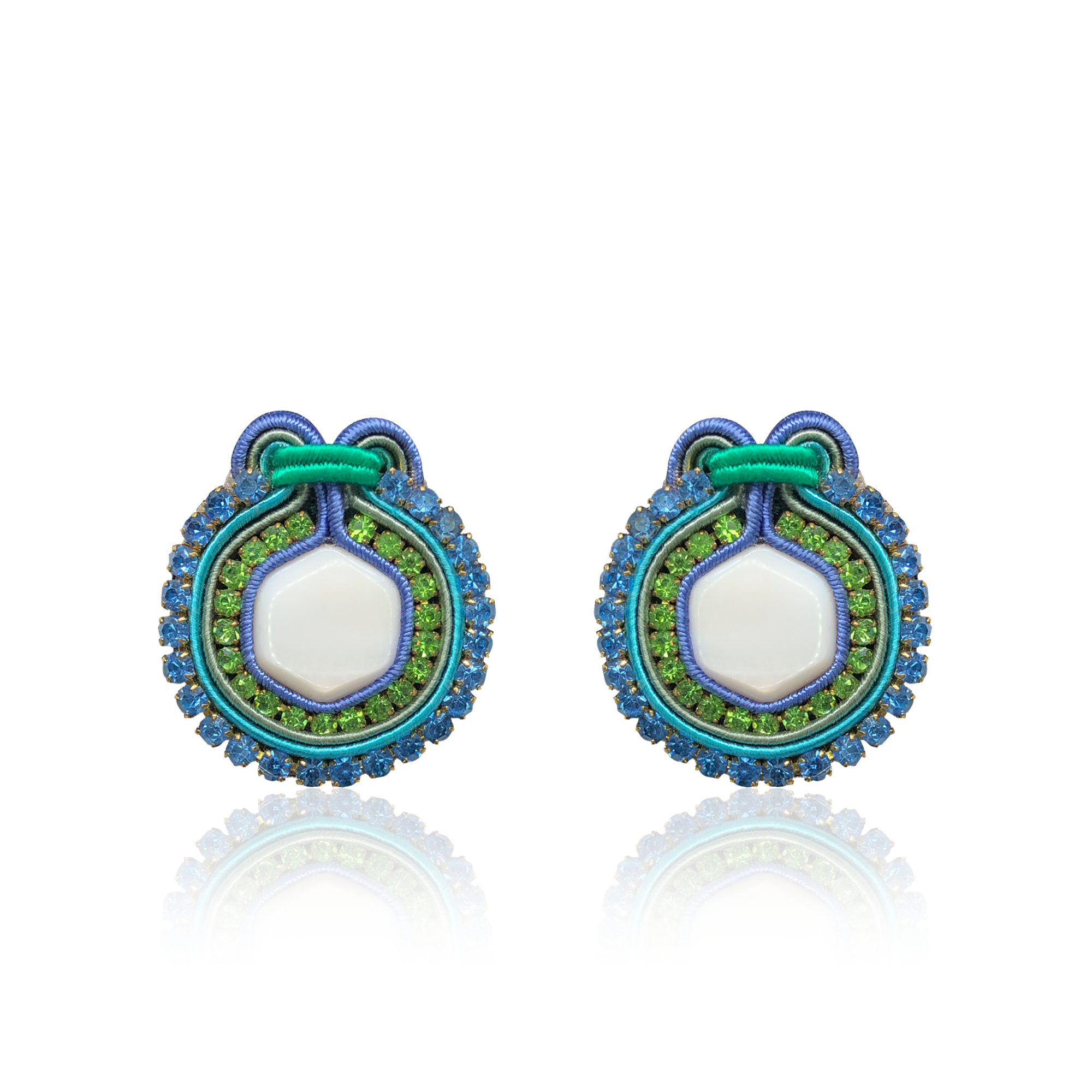 Marte Green and Blue Earrings
