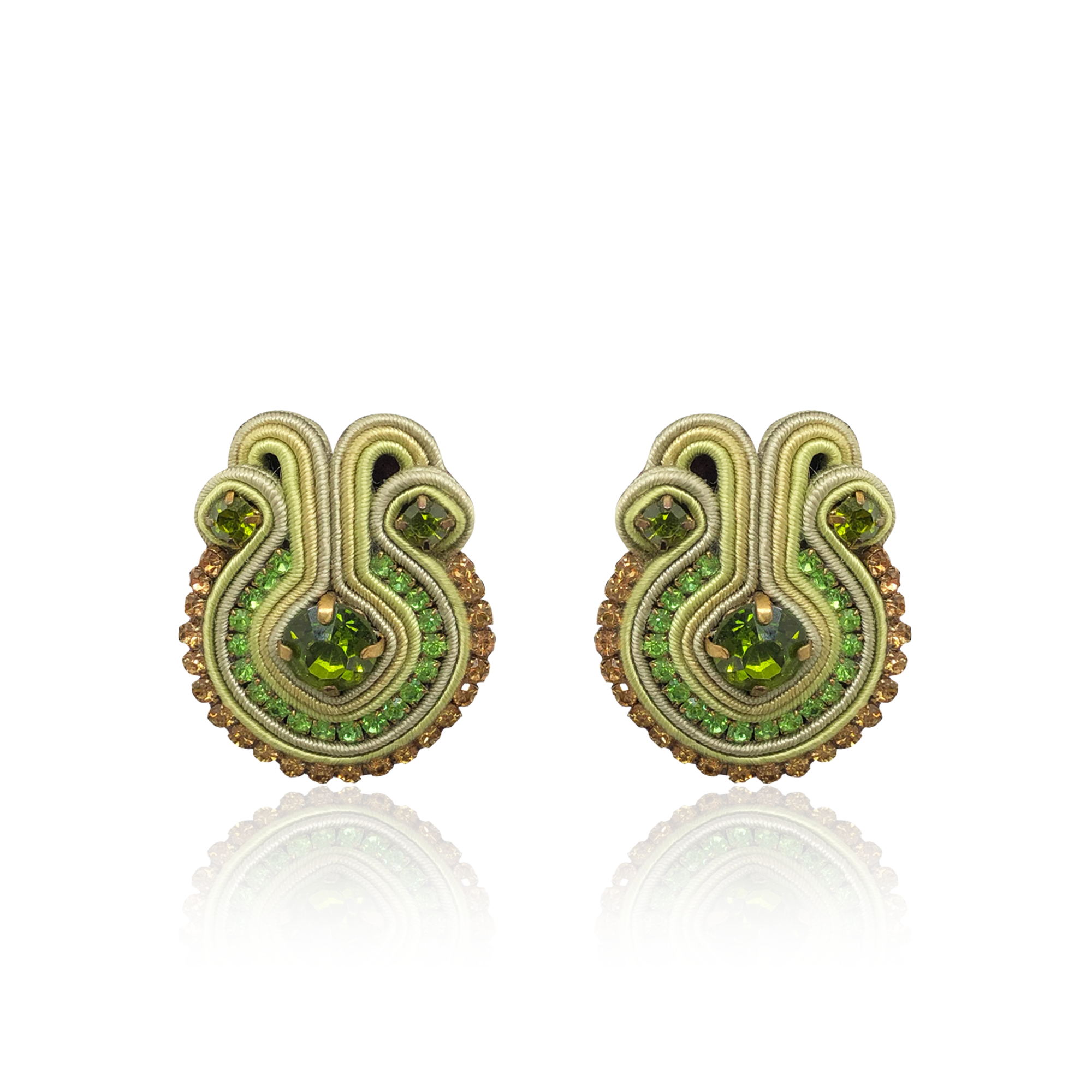 Green Francesca Earrings