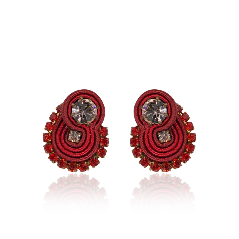 Red Mini Acqua Earrings