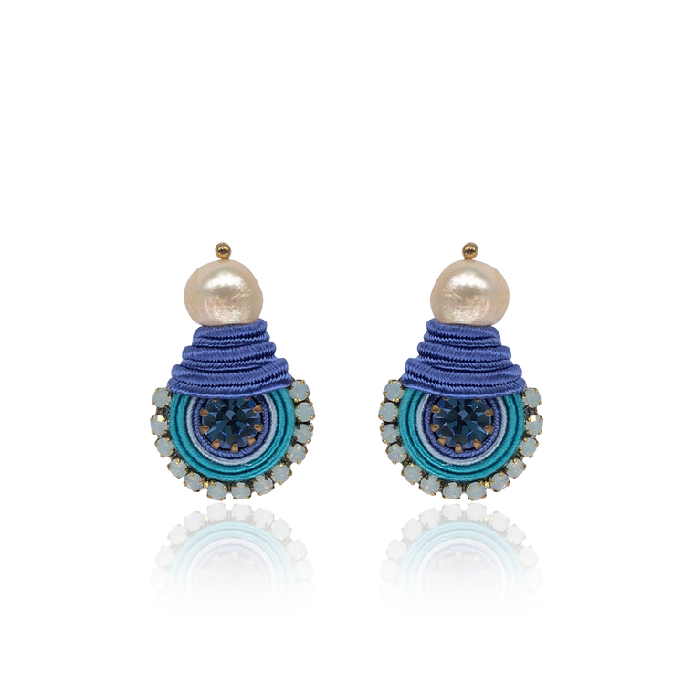 Blue Mini Dopo Earrings