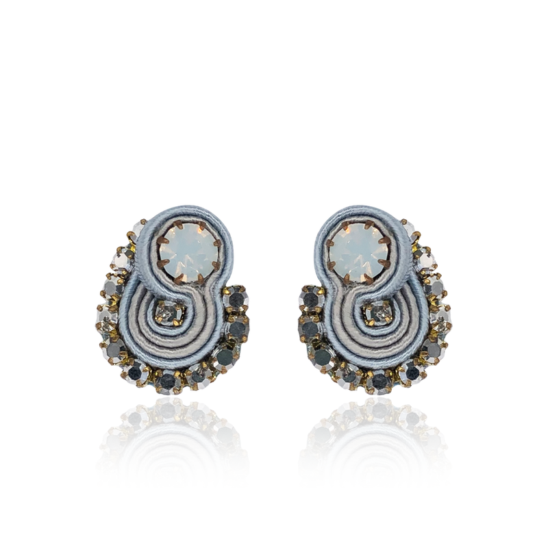 Light Grey Mini Acqua Earrings