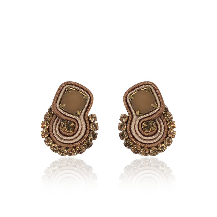 Beige Mini Acqua Earrings