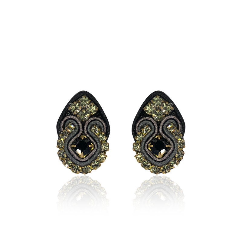 Black Mini Fiore Earrings