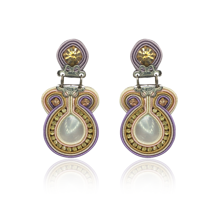 Small Luna Mother of pearl Lila Earring