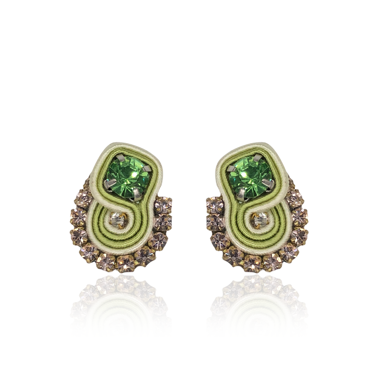 Light Green Mini Acqua Earrings