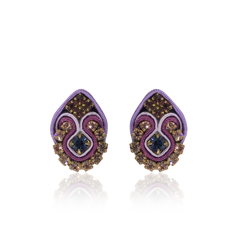 Purple Mini Fiore Earrings