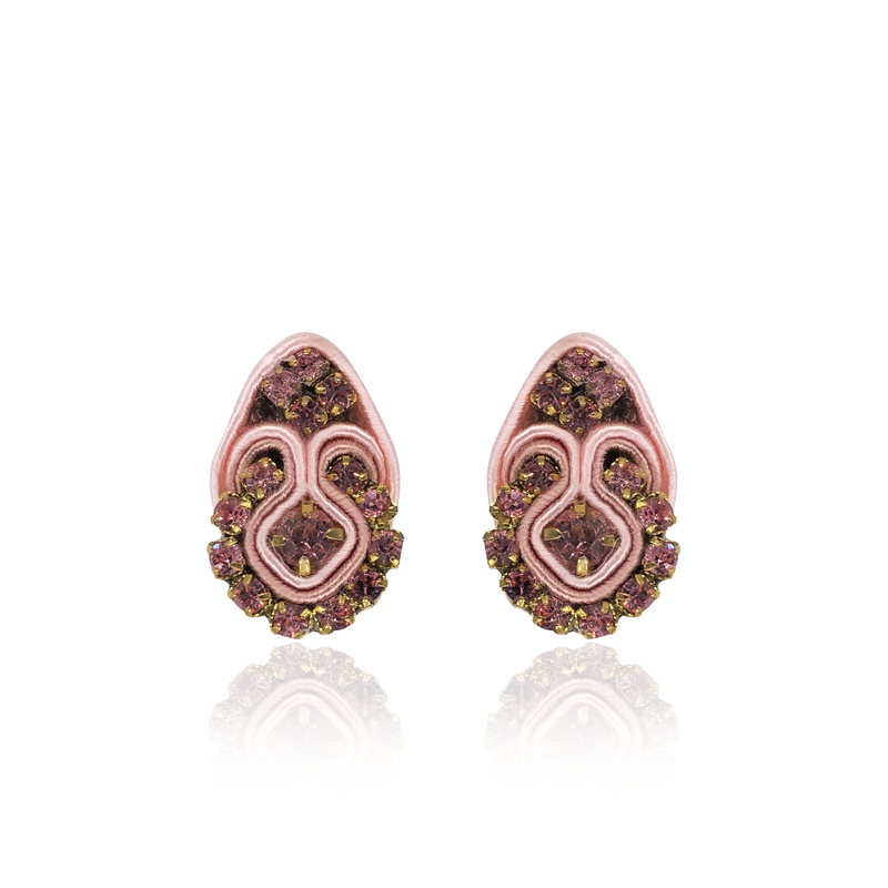 Baby Pink Mini Fiore Earrings
