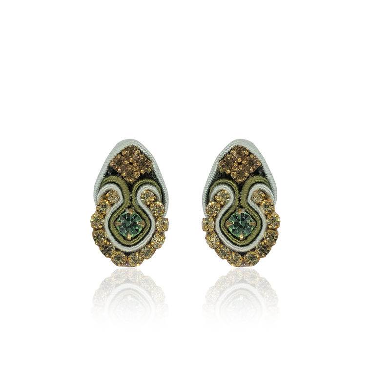 Light Green Mini Fiore Earrings