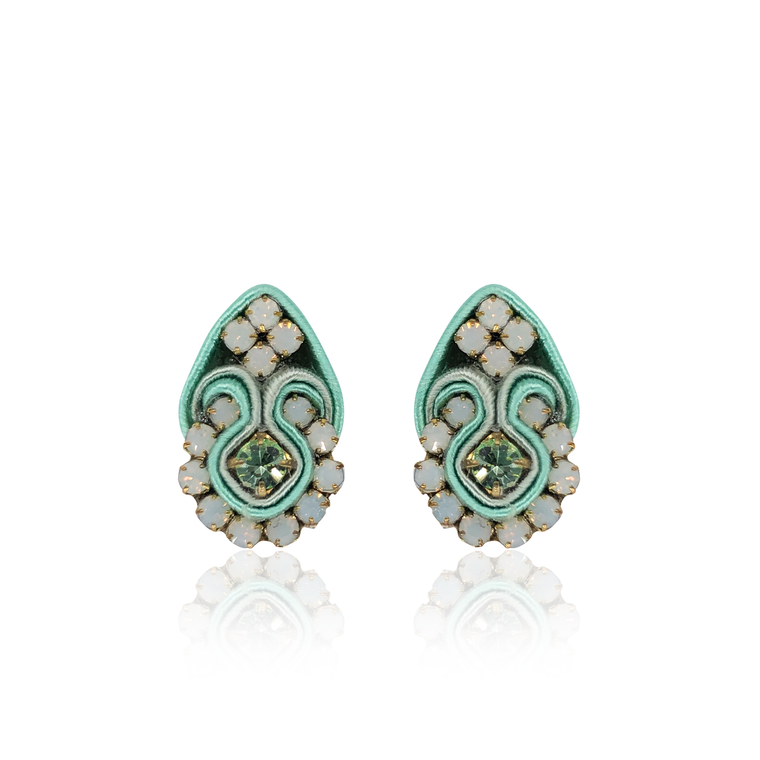 Light Mint Mini Fiore Earrings