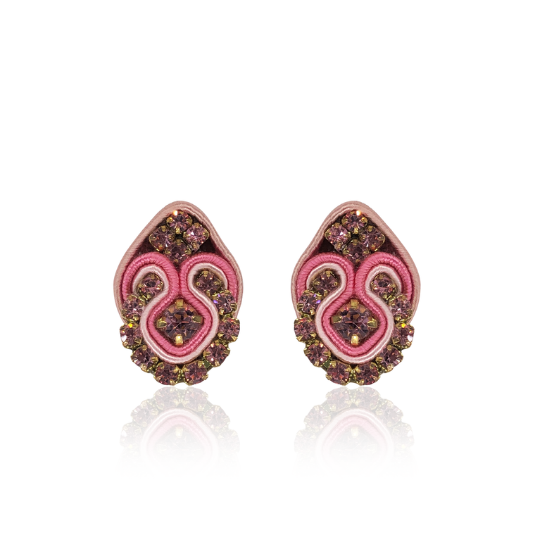 Pink Mini Fiore Earrings