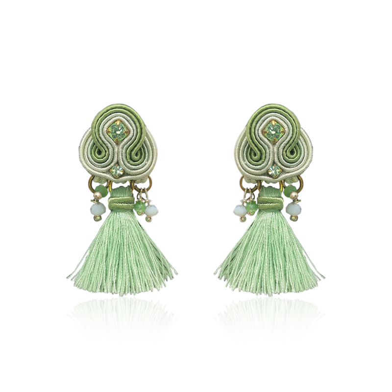 Apple Green Mini Borla Earring