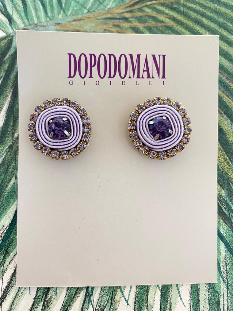 Lavender Basic Earrings