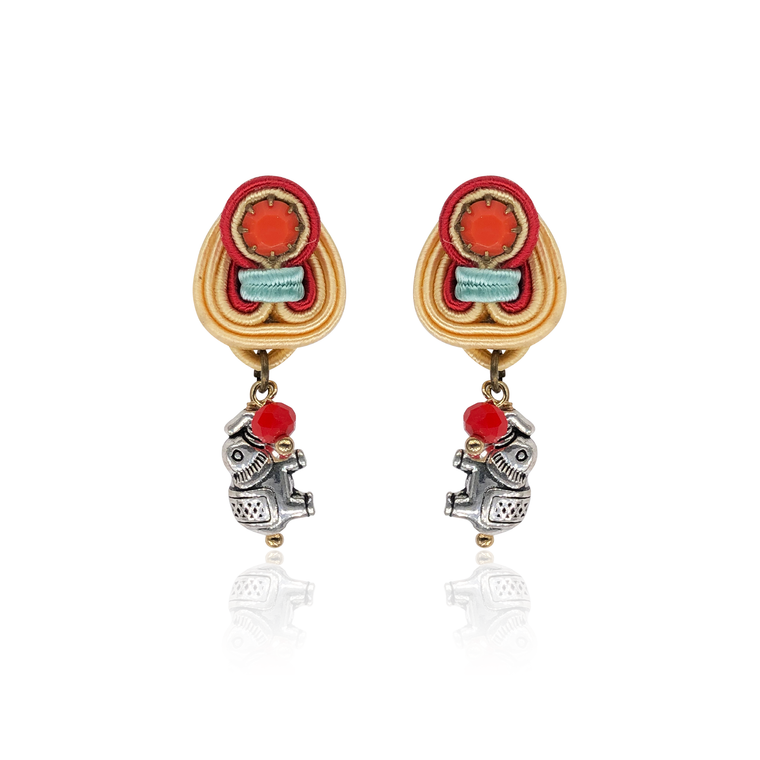 Baby Elefant MIni Dije Earrings