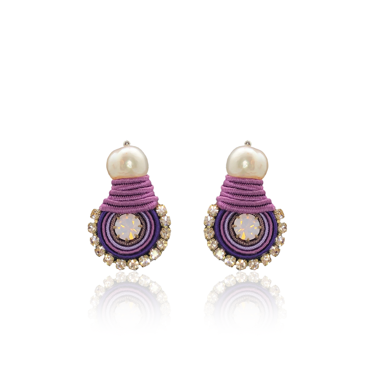 Purple Mini Dopo Earrings