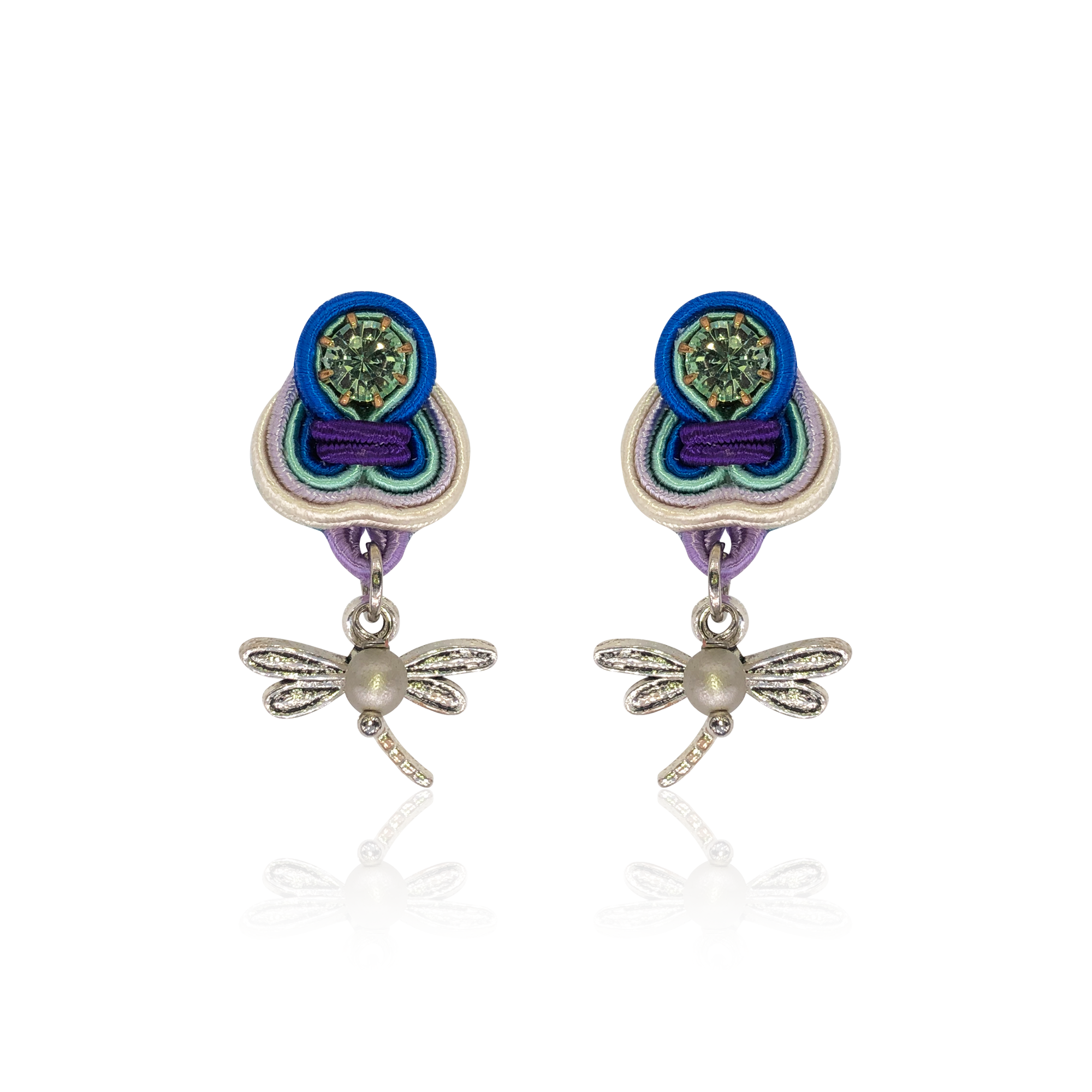 Dragin Fly Mini Dije Earrings