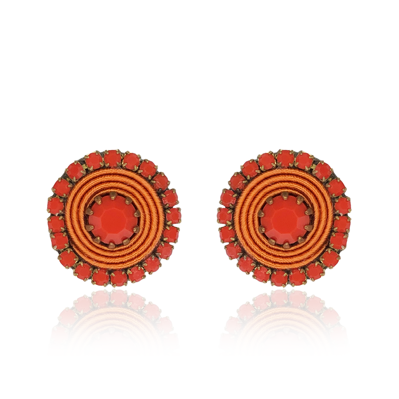 Basic Orange Earrings