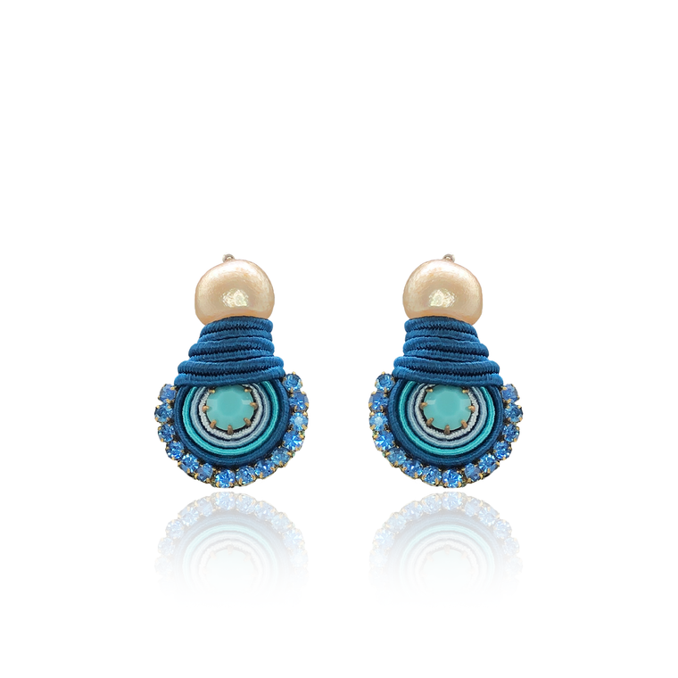 Los Roques Blue Mini Dopo Earrings