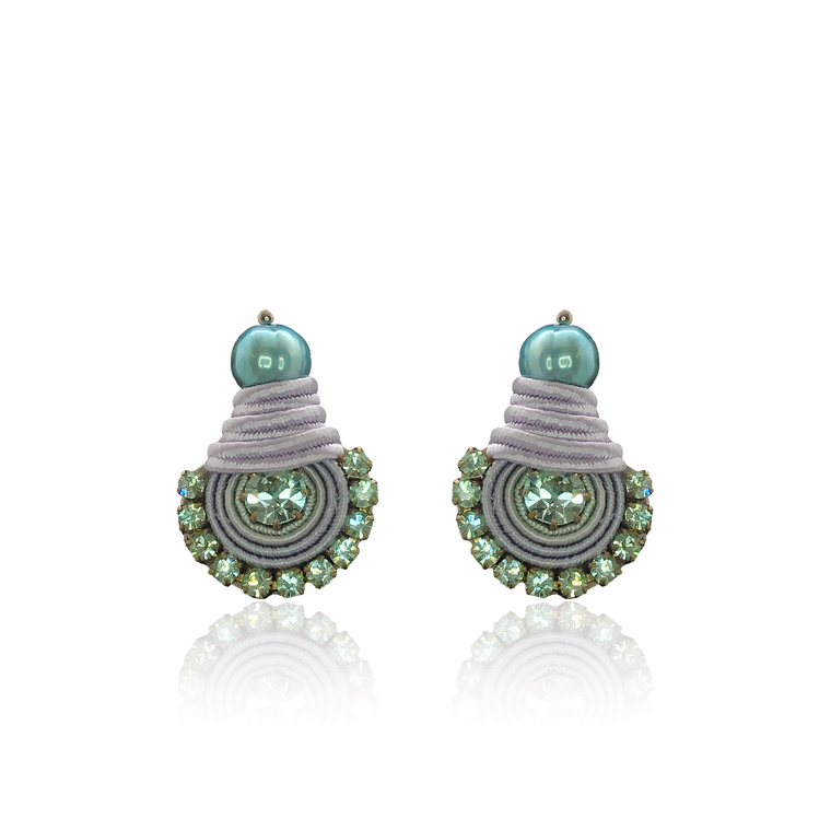 Lilac and Mint Mini Dopo Earrings