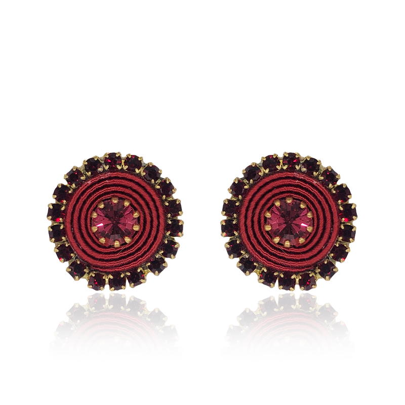 Bordeaux Basic Earrings