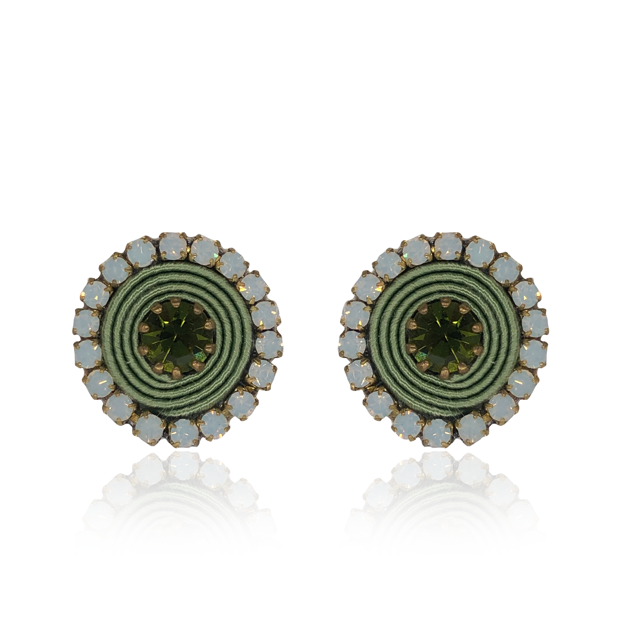 Light Green Basic Earrings